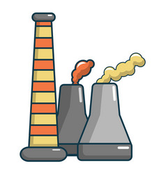 Industrial smoke from chimneys icon cartoon style vector