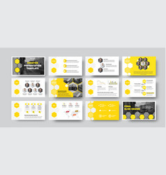 Infographic template with hexagons photos vector