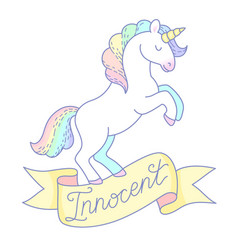 innocent unicorn vector image