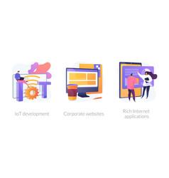 it technologies concept metaphors vector image
