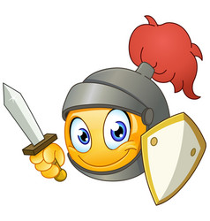 Knight emoticon vector