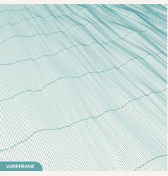 lattice structure science technology 3d grid vector image