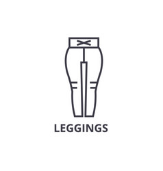 leggings line icon outline sign linear symbol vector image