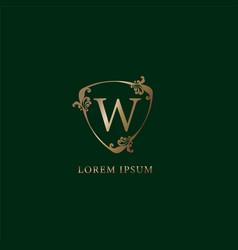 Letter w alphabetic logo design template luxury vector