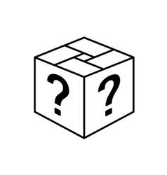 loot box icon square cube outline box vector image