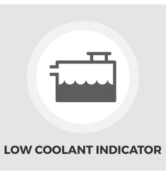 Low coolant indicator flat icon vector image