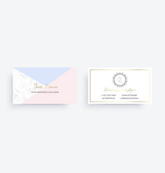 marble business card with geometric design vector image
