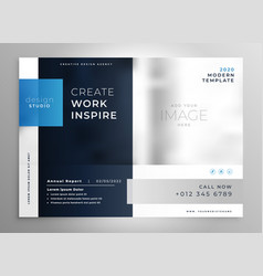 Modern blue presentation business template vector