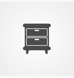 nightstand icon sign symbol vector image