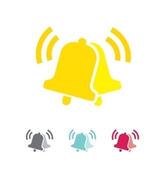 Notifications call icon with ringing bells vector image