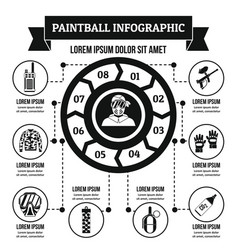 Paintball infographic concept simple style vector
