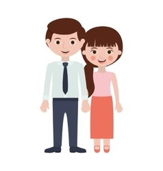 Persons togheter with hands entwined vector