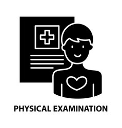 Physical examination icon black sign with vector