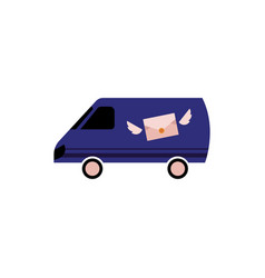 postal delivery transportation service isolated on vector image