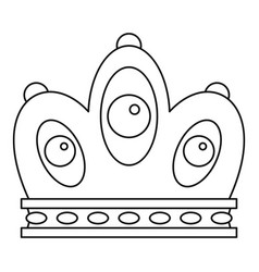 Queen crown icon outline style vector