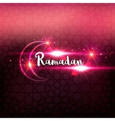 Ramadan arabic islamic lettering dark glowing vector