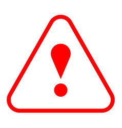 Red triangle exclamation mark icon warning sign vector