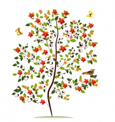 sapling flower vector image vector image