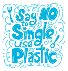 Say no to single use plastic vector