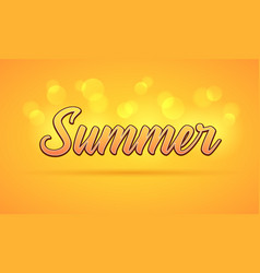 sunny lettering of summer vector image