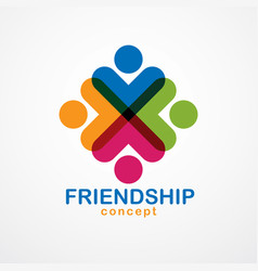 teamwork and friendship concept created with vector image