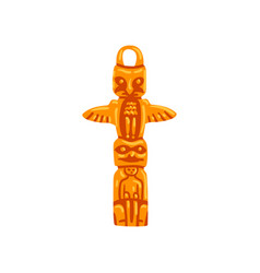 totem pole maya civilization symbol american vector image