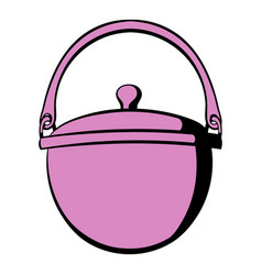 Traditional cooking cauldron icon icon cartoon vector