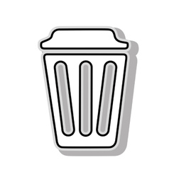trash can delete icon vector image