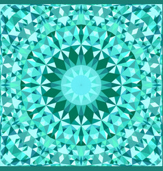Turquoise seamless kaleidoscope pattern background vector