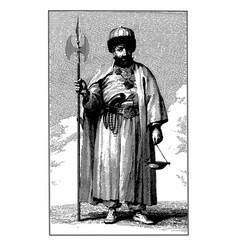 vintage engraving bektashi dervish vector image