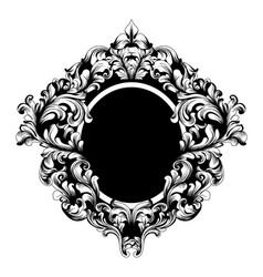 vintage frame classic rich ornamented vector image