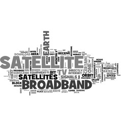 What is broadband satellite tv text word cloud vector