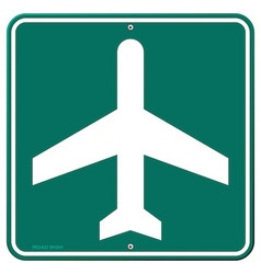 Airplane Travel Sign vector image