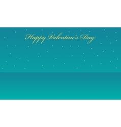 landscape with star valentine backgrounds vector image