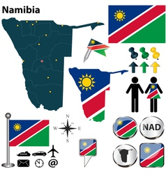 Namibia map vector image vector image