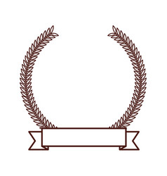 brown round emblem icon vector image vector image