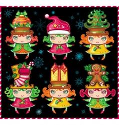 christmas helpers vector image