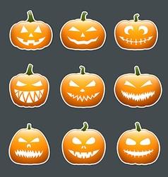 Halloween pumpkin lanterns vector image