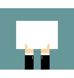 Hands and white sheet of paper Billboard Blank vector image vector image