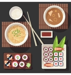 Japanese cuisine set vector image