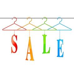 Sale hangers vector image vector image