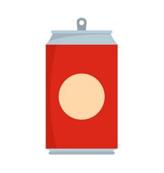 soda icon flat style vector image