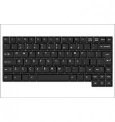 vector laptop keyboard vector image