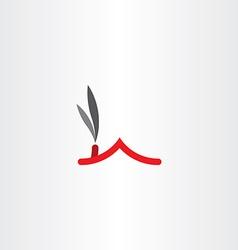 chimney smoke house roof icon logo vector image