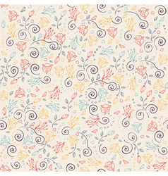 Floral ornamental seamless pattern vector image