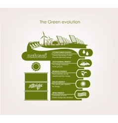 infographics renewable nature vector image vector image