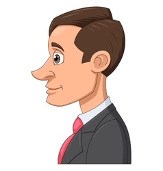 Profile of a businessman vector image vector image