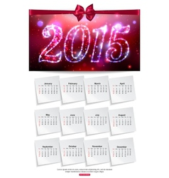 Shining calendar template brochure business design vector image