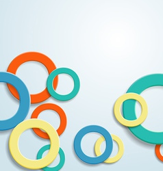 abstract background with rings vector image vector image