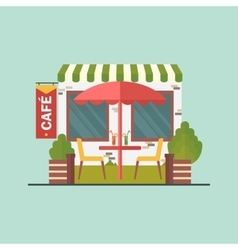 cafe on street vector image